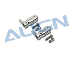 H25003AF Metal Main Rotor Holder Set/Silver