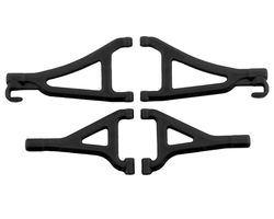 RPM80692 Front Upper/Lower A-arms-Traxxas1/16th Revo- Black