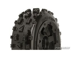 PR1150-13 Baja 5b Bow Ties on  Black Desperado Wheels; Front