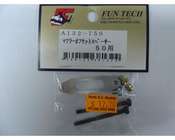 A132 Hn-50 fun tech muffler spacer trex 600