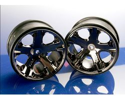 38-3772A AllStar Rims 2.8 Black Chrome Rust/Stamp VXL Rear (AKA TRX3772A)
