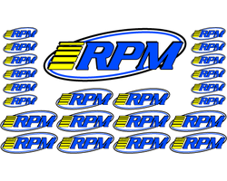 RPM70005 Rpm pro LOGO decals (2 sheets)