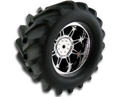 RPM73221 Spider rear wheels - white 1/18