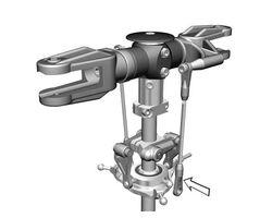 MIK4053 Upgrade v-bar rotorhead LOGO 14 and LOGO 600
