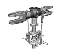 MIK4041 Upgrade V-bar rotorhead LOGO 10 LOGO 500