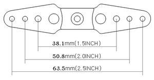 SECFUT2.5FULL Seacraft Futaba 2.5'' Ful Servo arm 3mm thread red
