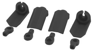 RPM80402 Black Shock Shaft Guards Traxxas