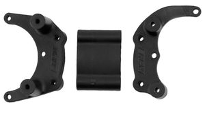 RPM80902 Black Rear Bumper Mount for the Traxxas Slash