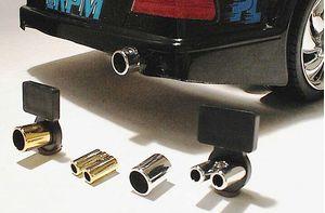 "RPM81223  ""Slim Twinz"" Chrome Sedan Pipe"