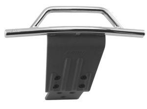 RPM80023 Chrome Front Bumper & Skid Plate - Slash 4x4