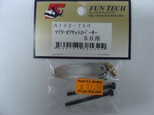 A132 Hn-50 fun tech muffler spacer trex 600