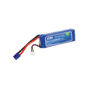 EFLB22003S30 2200mAh 3S 11.1V 30C LiPo, 13AWG EC3