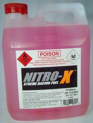 695996006169 Nitro-x prorace hp173/30% hd nitro 4 litre bottle