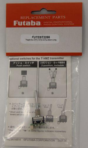 FUTEBT2288 Toggle Switch Top 3TFL101G (3-Pos Momentary long)